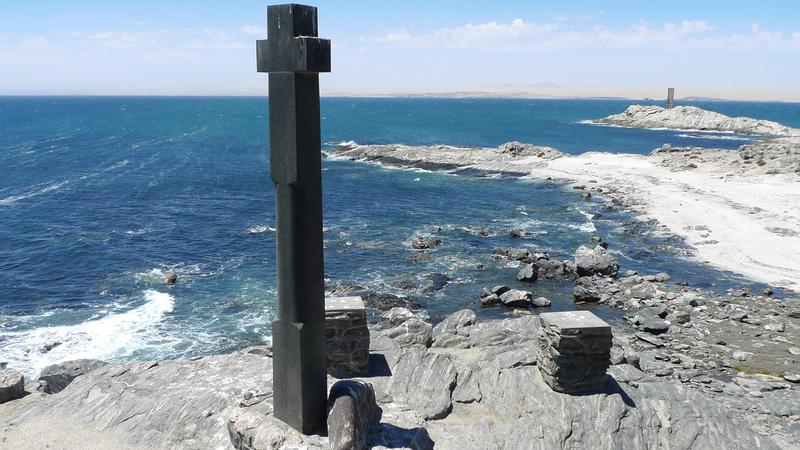 Namíbia: O padrão de Bartolomeu Dias. Os navegadores portugueses estiveram aqui