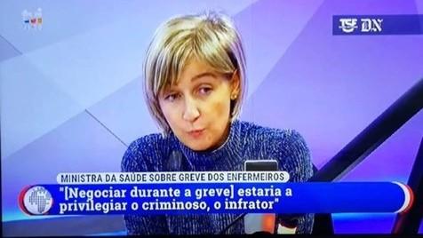 A ministra da Saúde e os criminosos