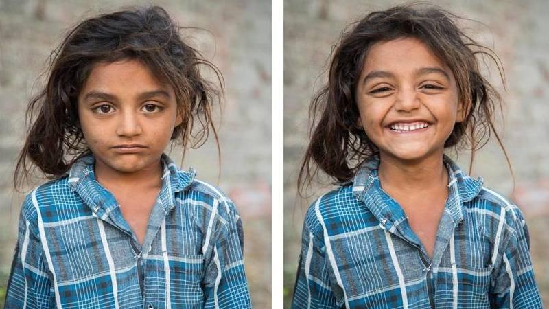 Este fotógrafo viaja pelo mundo e pede a estranhos para sorrir. As fotos são emocionantes