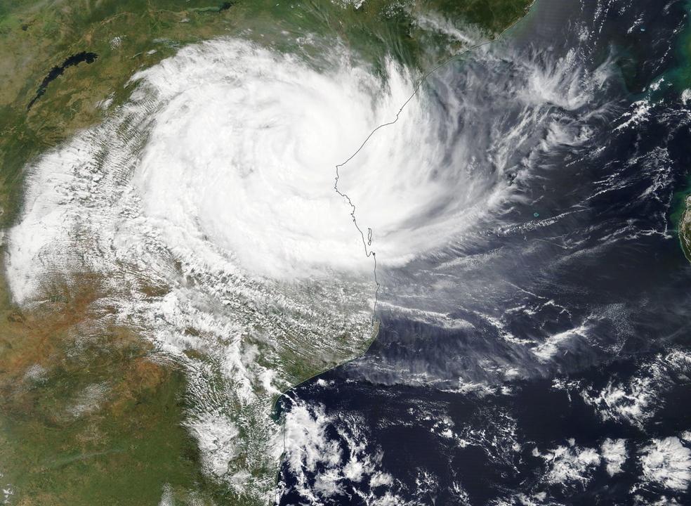 Moçambique: ventos e chuva muito fortes e estragos com chegada do ciclone Kenneth