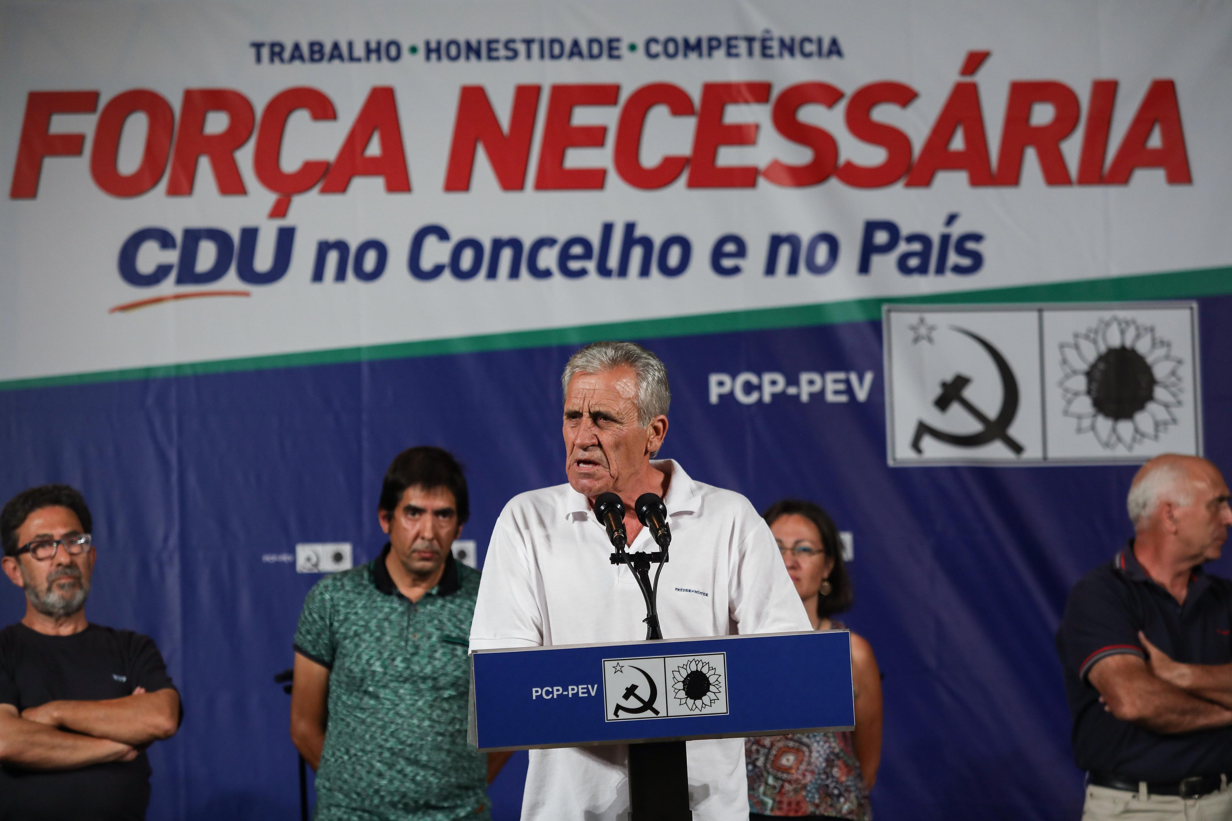CDU apresenta maior número de listas de sempre, diz Jerónimo de Sousa