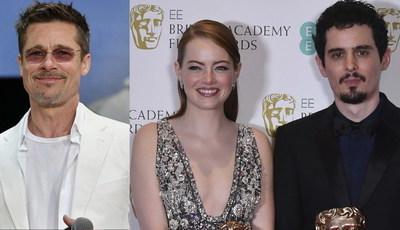 "Brad Pitt e Emma Stone: realizador de ""La La Land"" vai juntar dupla de sonho no cinema?"