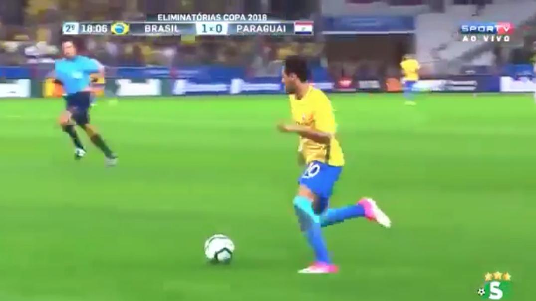 Veja mais um grande golo marcado por Neymar