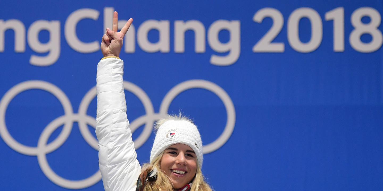 PyeongChang2018: Ledecka vence segunda medalha de ouro a um dia do fim dos jogos