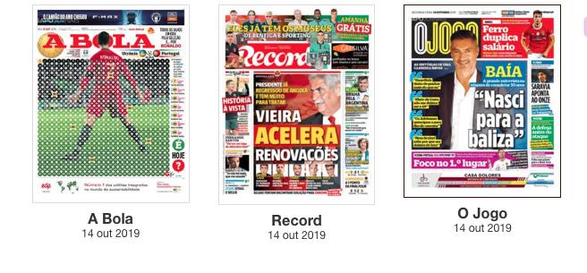 Revista de Imprensa: Todos os olhos em Kiev e Vieira acelera renovações no Benfica