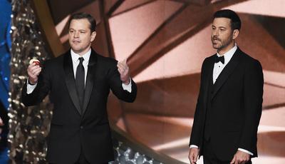 Matt Damon diz que ter Jimmy Kimmel nos Óscares é mau para a América