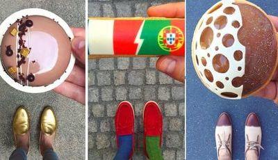 Chef parisiense não sai à rua sem combinar os sapatos com um bolo