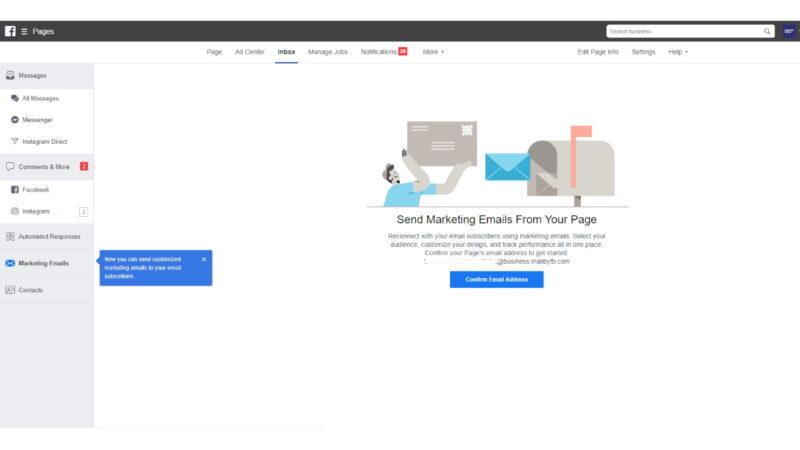 Email marketing não é coisa do passado e o Facebook quer prová-lo