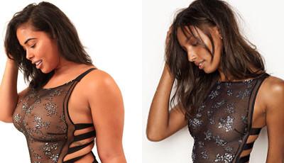 Modelo curvilínea recria fotos da Victoria's Secret