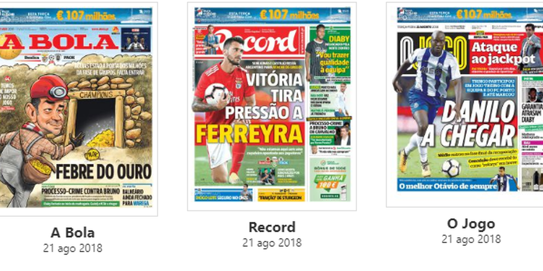 """Revista de imprensa: A """"febre do ouro"""" da Champions"""