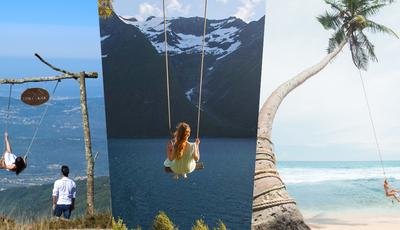 """Das Bahamas à Serra da Lousã: 14 baloiços incríveis e """"instagramáveis"""" para conhecer (e fotografar)"""
