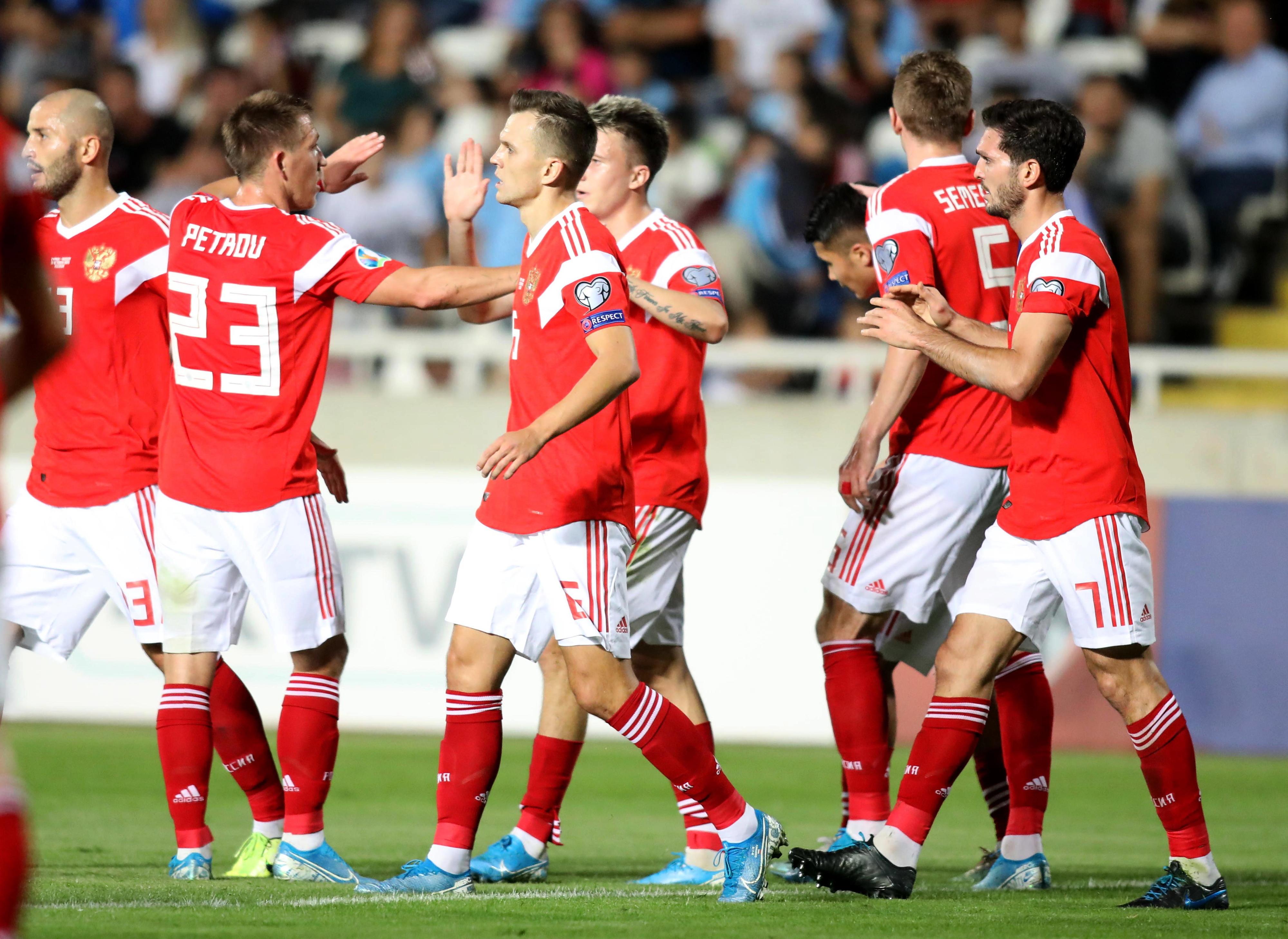 Rússia goleia Chipre e confirma presença no Euro 2020