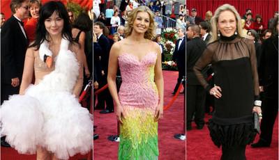 Os looks mais bizarros que desfilaram nos Óscares