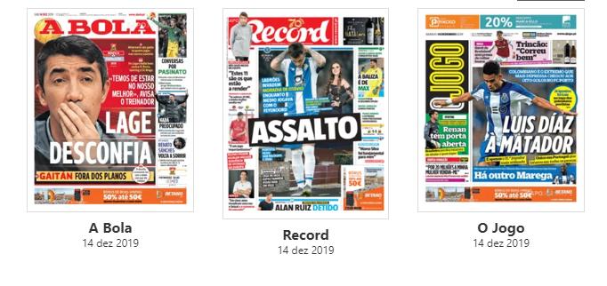 """Revista de imprensa: """"Lage desconfia"""" do Famalicão e casa de Otávio assaltada"""