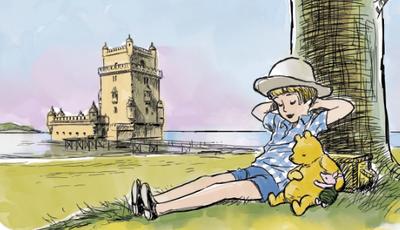 Winnie the Pooh visita Lisboa em nova ilustração