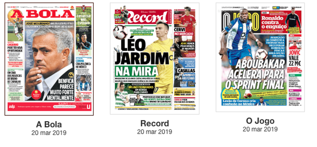 Revista de Imprensa: Análise de Mourinho à I Liga e um possível reforço leonino em destaque