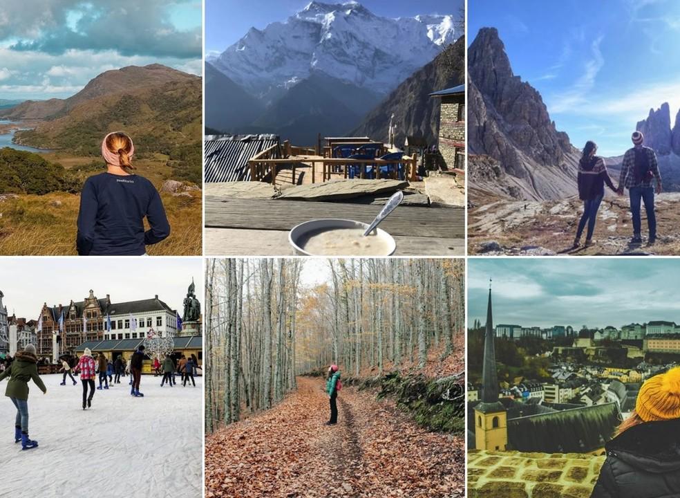 Praia e montanha, calor e frio. Aventuras para todos os gostos nas Viagens de Instagram