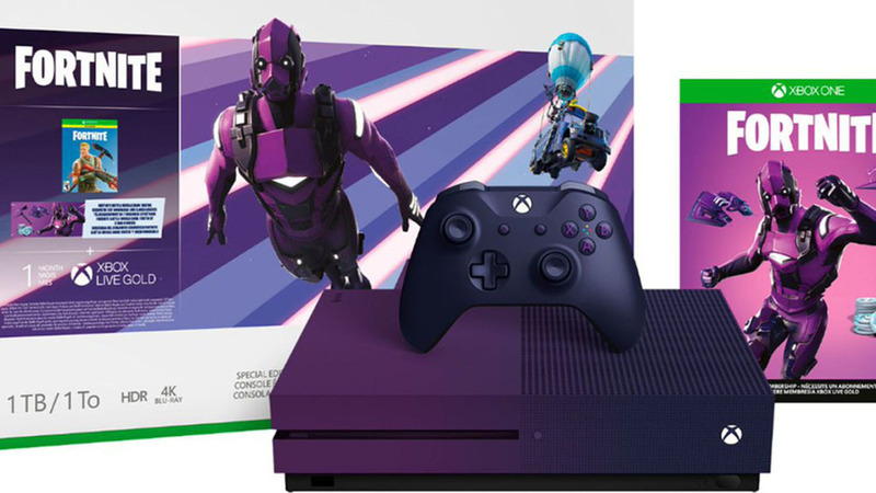 Microsoft prepara edição especial da Xbox One S inspirada no Fortnite