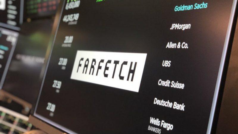 Farfetch dispara mais de 40% na estreia em Nova Iorque. Ganha 2,5 mil milhões