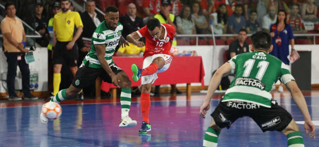 Futsal: Benfica vence dérbi e põe fim a registo histórico do Sporting