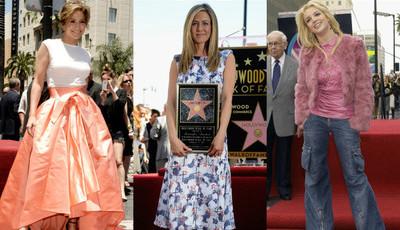 O que vestem as estrelas de Hollywood quando ganham uma estrela?