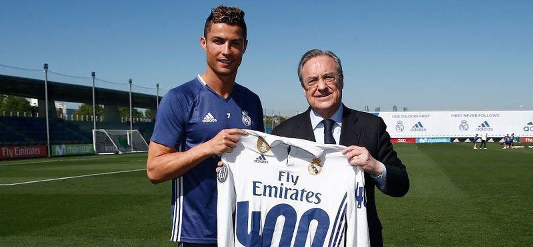 """Florentino explica aos acionistas a venda de Ronaldo: """"Ele queria sair e ninguém dava mais que 100 M€ por ele"""""""