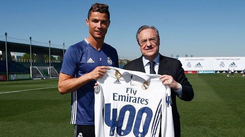 Florentino Pérez deixou uma mensagem de agradecimento a Ronaldo