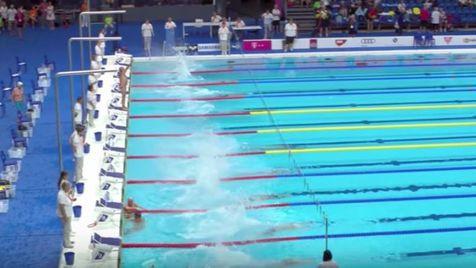 Não é para qualquer um: o nadador que fez um minuto de silêncio sozinho