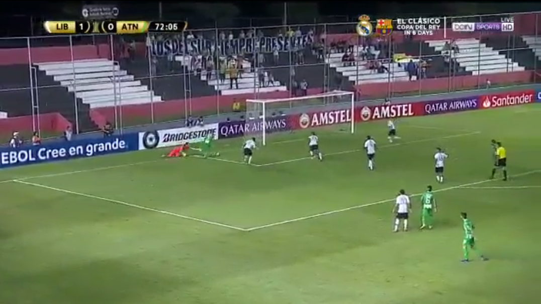 Libertad-Atlético Nacional teve este minuto muito intenso