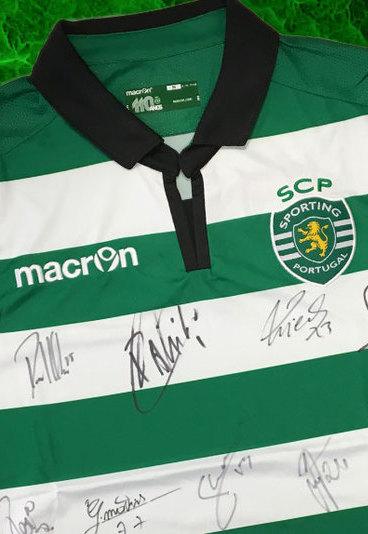 Ganhe camisola e bola assinadas pela equipa do Sporting