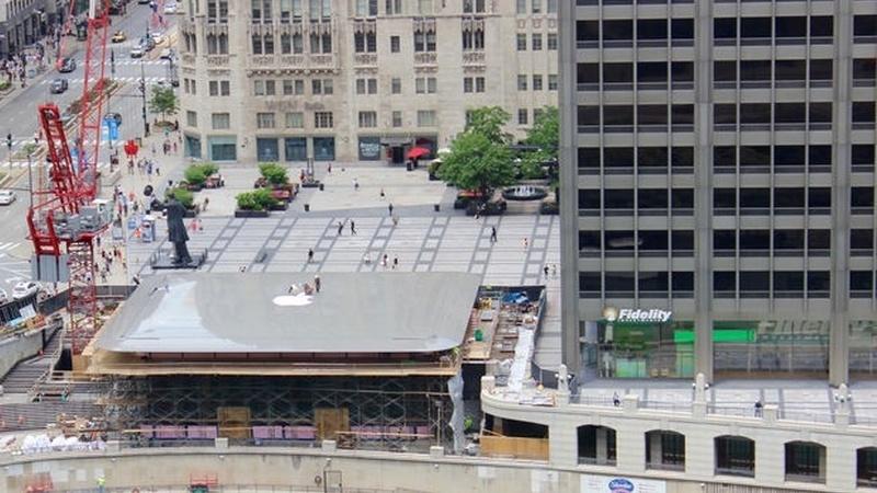 Telhado de Apple Store de Chicago é… um MacBook Air gigante