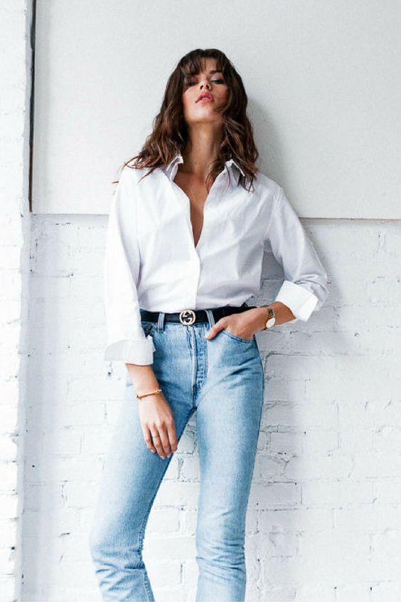 Camisa branca: como usar em diferentes ocasiões. Veja fotos!