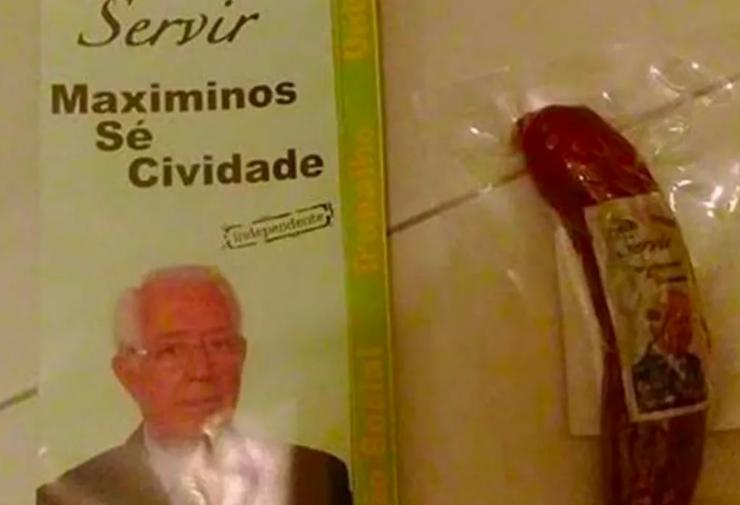 """Eleitores de Braga recebem """"chouriço independente"""" nas caixas do correio"""