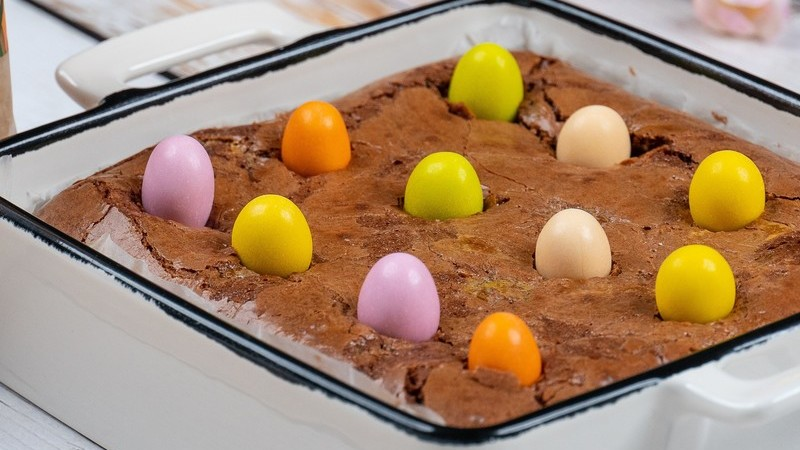 Experimente este brownie feito especialmente para a Páscoa