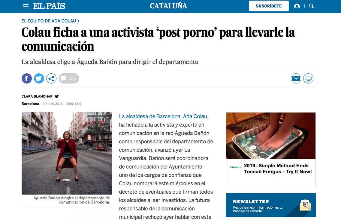 """Ada Colau En Porno autarca de barcelona """"levantou a saia e urinou na rua"""" em"""