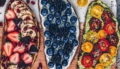 São lindas e nutritivas as torradas da norte-americana Bianca