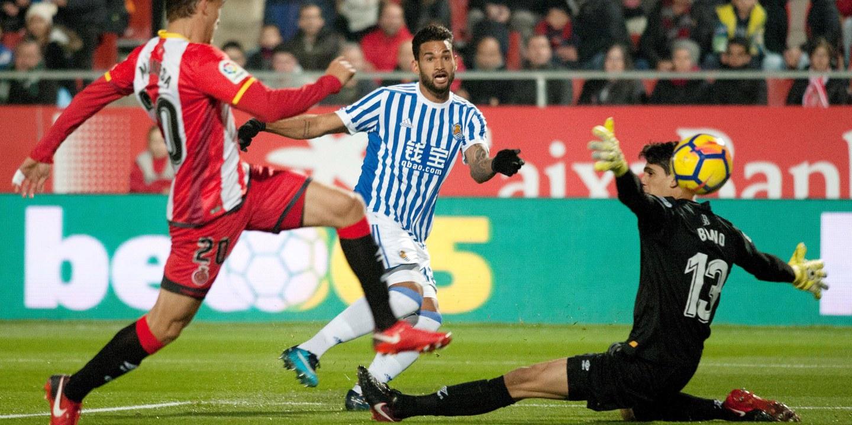Real Sociedad empata 1-1 com Girona e perde ataque ao sexto lugar