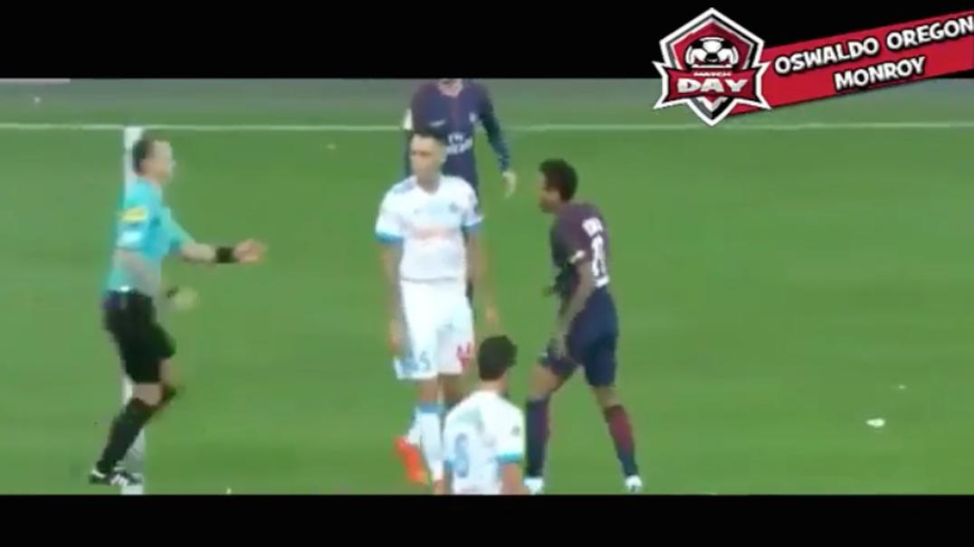 Expulsão de Neymar frente ao Marselha