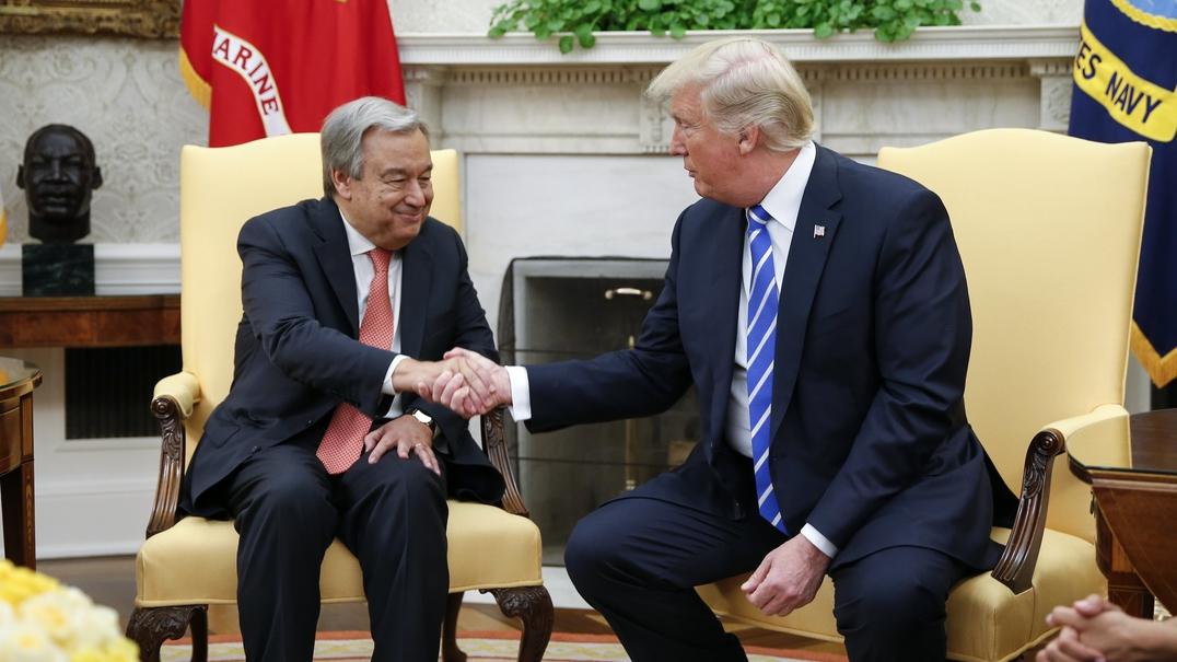"""Trump tem a """"sensação"""" de que Guterres tem um potencial sem limites na ONU"""