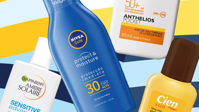 Oito protetores solares para rosto e corpo abaixo de 15 euros