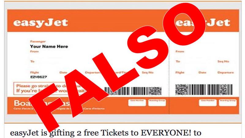 Atenção: Oferta de bilhetes da easyJet no Facebook é falsa