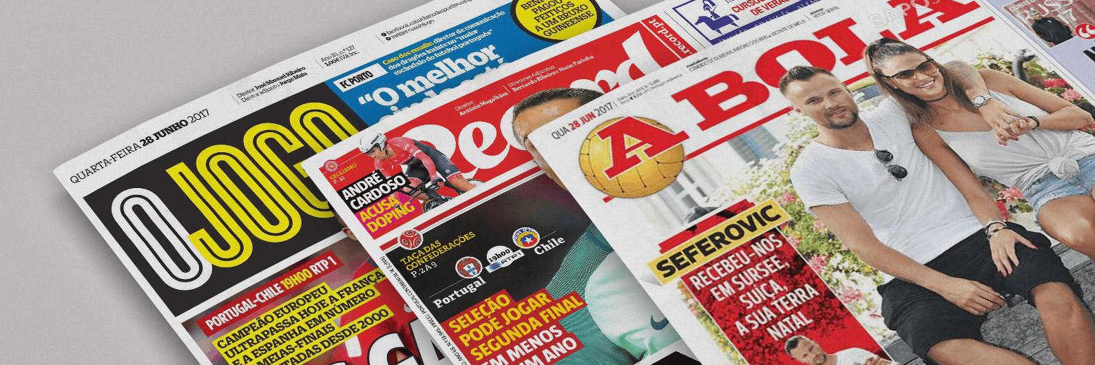 Revista de Imprensa: Seferovic intromete-se entre Portugal e Chile nas manchetes