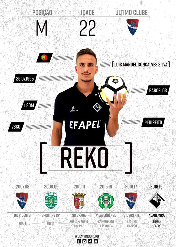 Médio Reko é o primeiro reforço da Académica para 2018/19