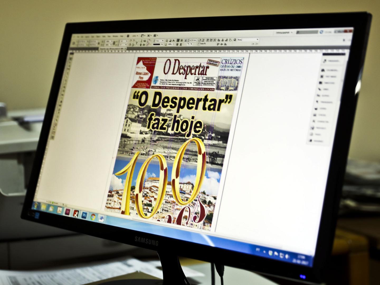 """Este jornal local """"despertou"""" há 100 anos. A edição de aniversário chega às bancas com mensagem de Marcelo"""
