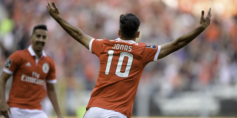 Jonas é responsável por praticamente metade dos golos do Benfica esta temporada