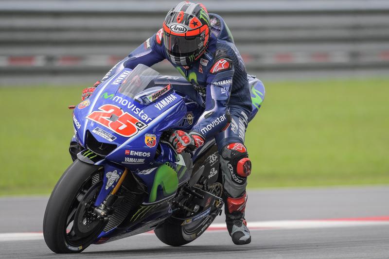 Maverick Viñales surpreende nos treinos livres, Rossi e Lorenzo desiludem