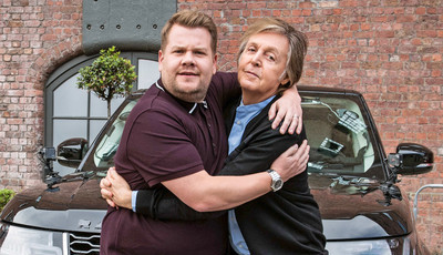 """Carpool Karaoke"": Paul McCartney dá boleia a James Corden"