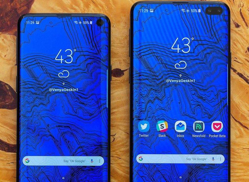 Leak mostra imagem dos novos Samsung Galaxy S10