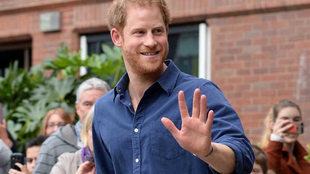 Príncipe Harry parece ter jeito com as crianças