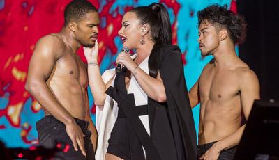 De Demi Lovato a Anitta: As fotos dos concertos do segundo dia de Rock in Rio